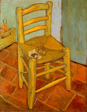 Van Gogh's rendition of his chair in Arles